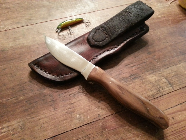 Sole Authorship Custom Hunter Knife with Sheath -1080 High Carbon Blade Steel