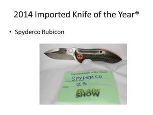 2014 Imported Knife of the Year
