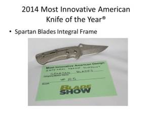 2014 Most Innovative American Knife of the Year